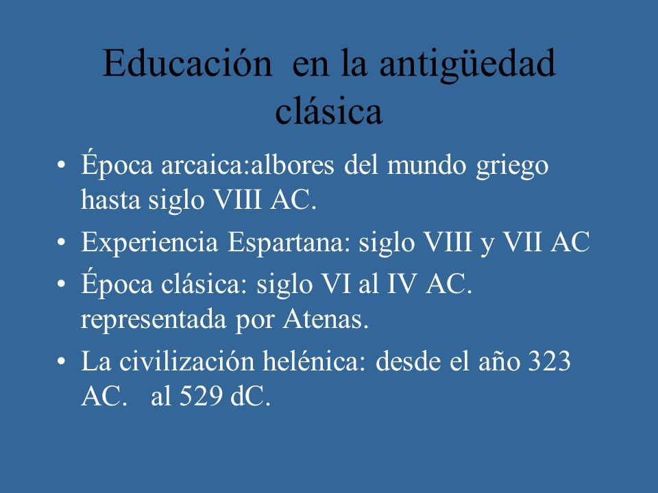 Educación en la antigüedad clásica