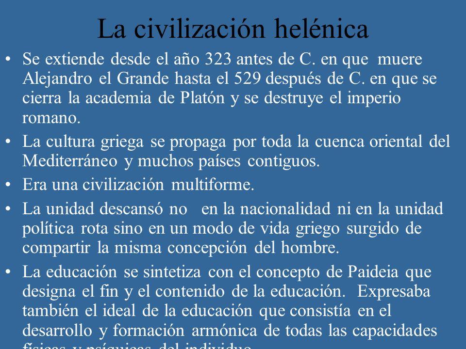 La civilización helénica