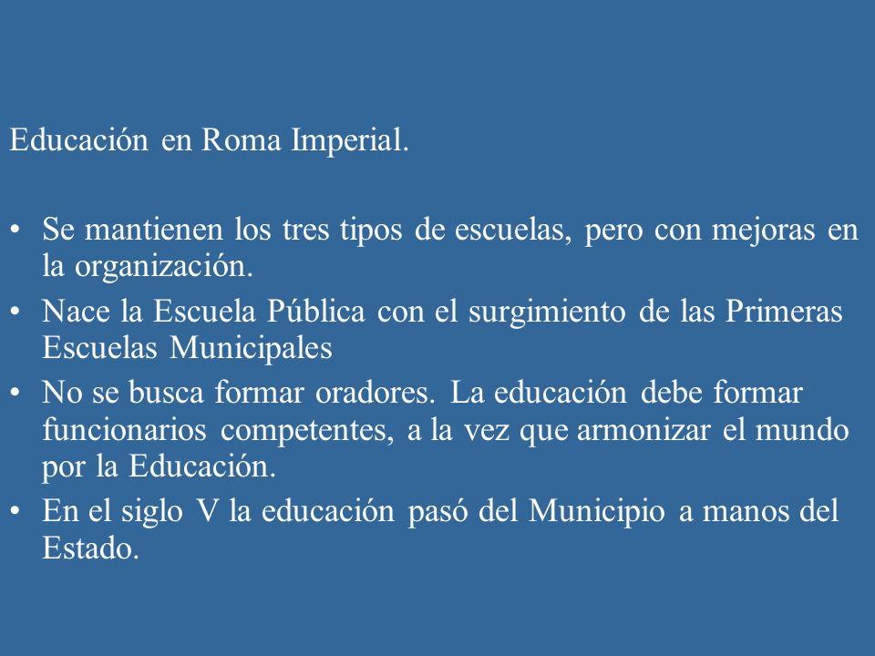 Educación en Roma Imperial.