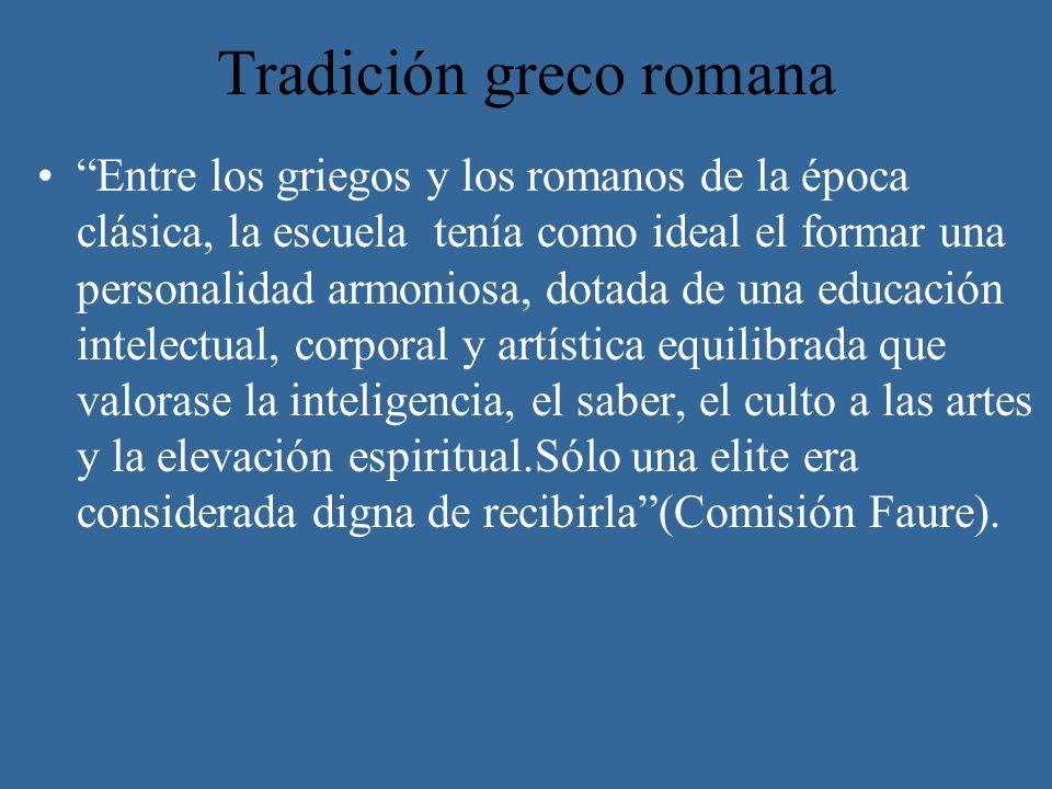 Tradición greco romana