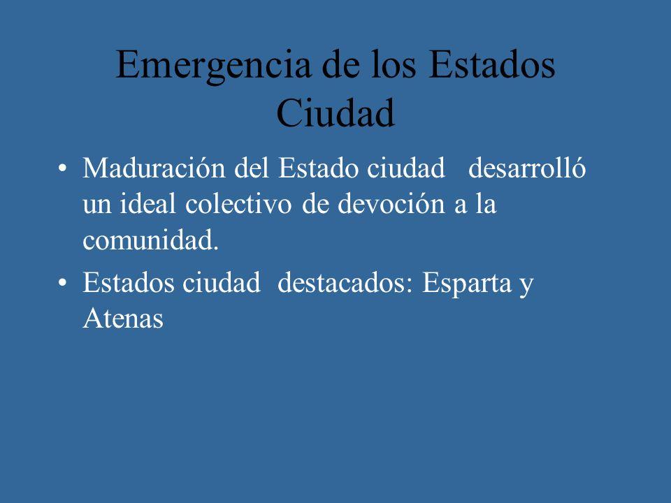 Emergencia de los Estados Ciudad