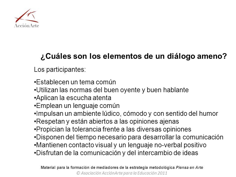 ¿Cuáles son los elementos de un diálogo ameno
