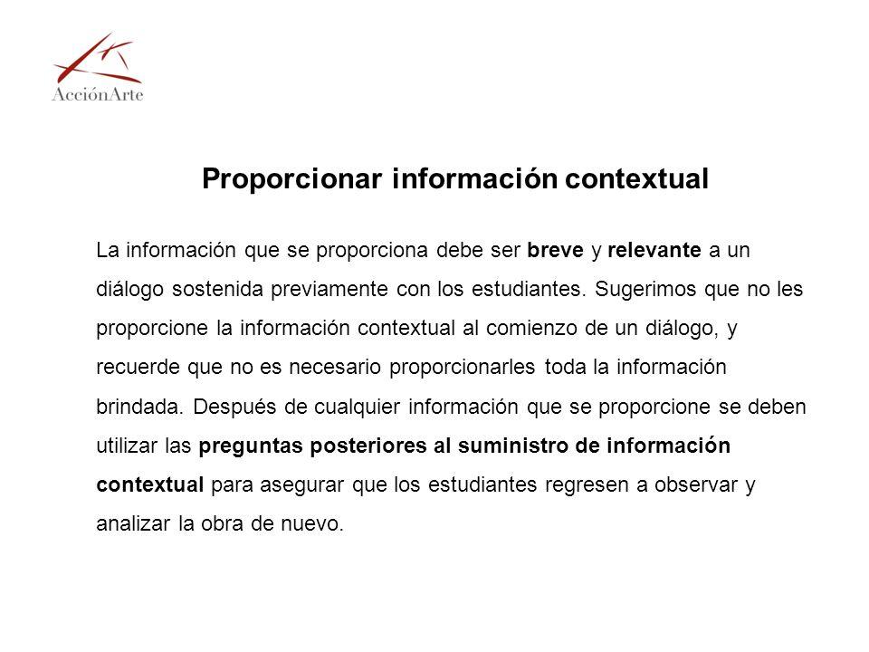 Proporcionar información contextual