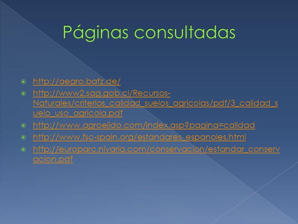 Páginas consultadas http://aegro.bafz.de/