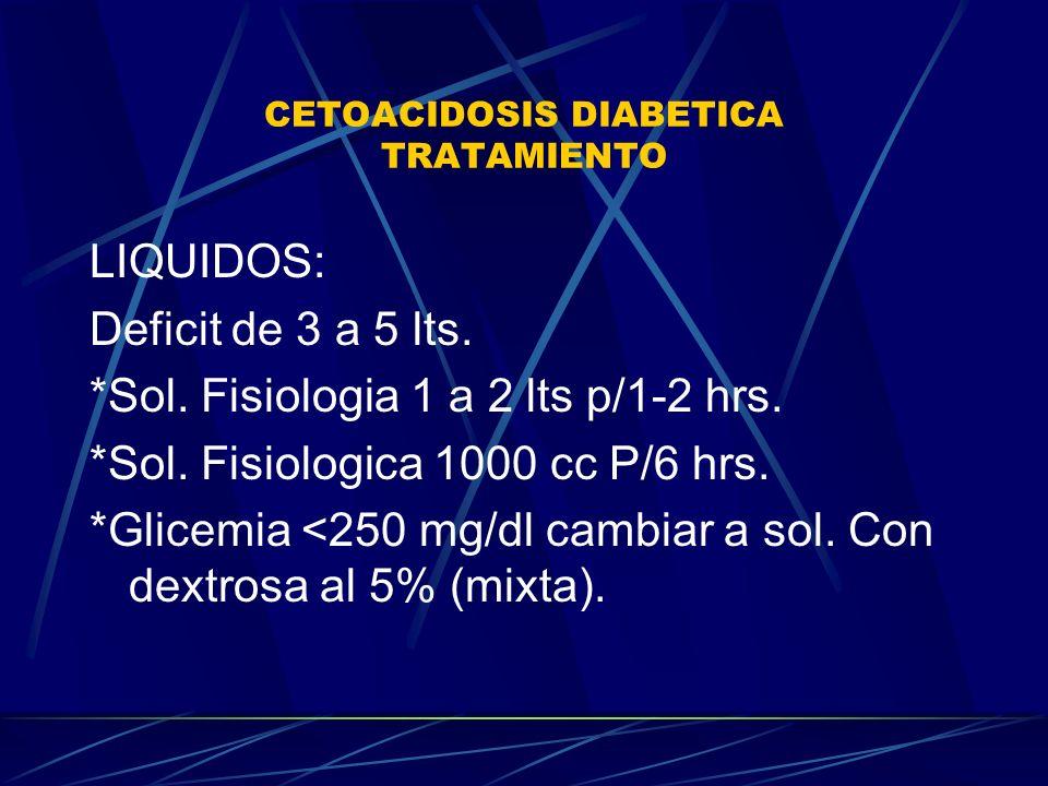 CETOACIDOSIS DIABETICA TRATAMIENTO