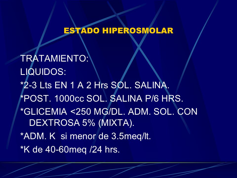 *2-3 Lts EN 1 A 2 Hrs SOL. SALINA. *POST. 1000cc SOL. SALINA P/6 HRS.