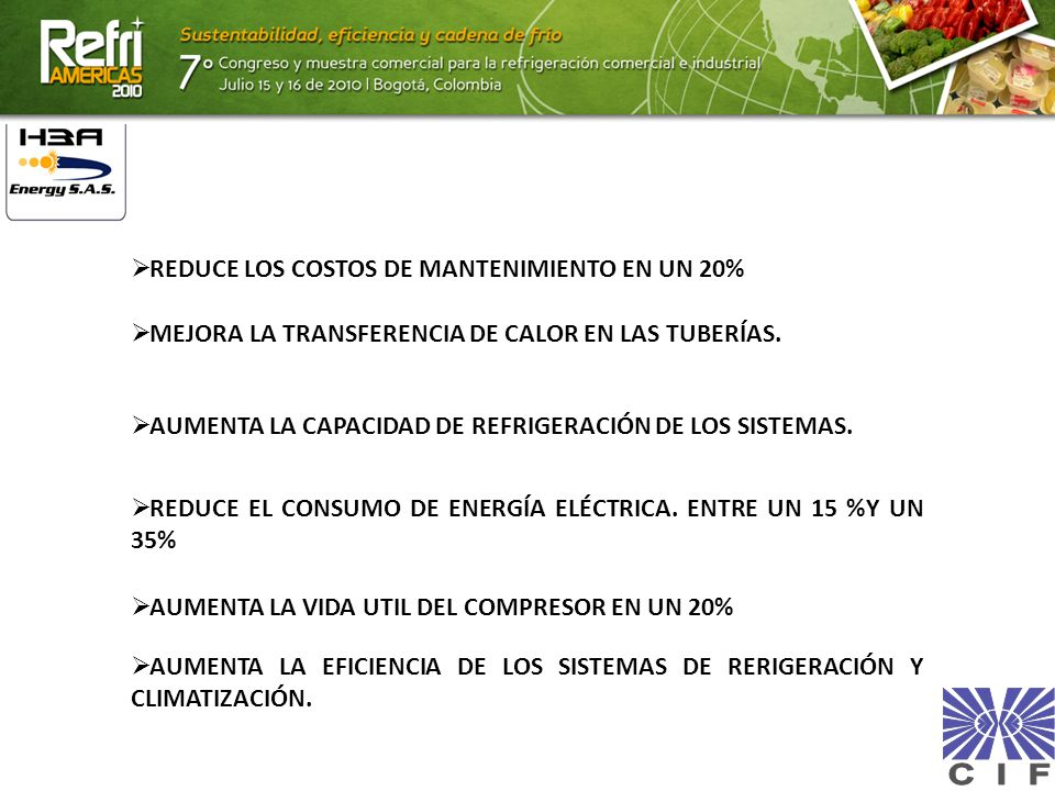 REDUCE LOS COSTOS DE MANTENIMIENTO EN UN 20%