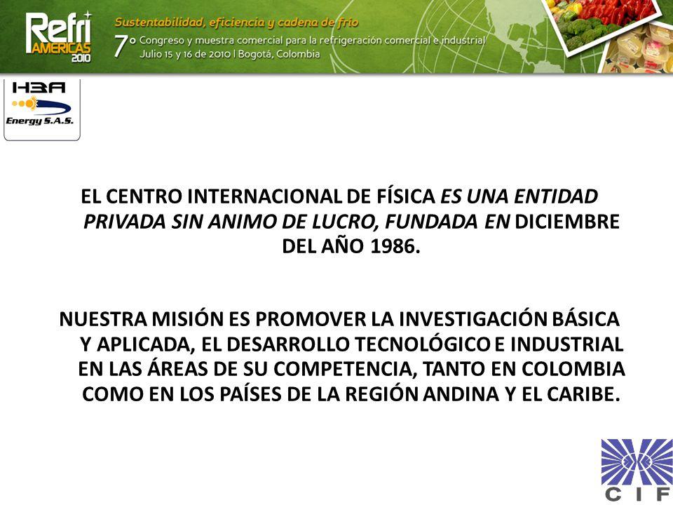 EL CENTRO INTERNACIONAL DE FÍSICA ES UNA ENTIDAD PRIVADA SIN ANIMO DE LUCRO, FUNDADA EN DICIEMBRE DEL AÑO 1986.