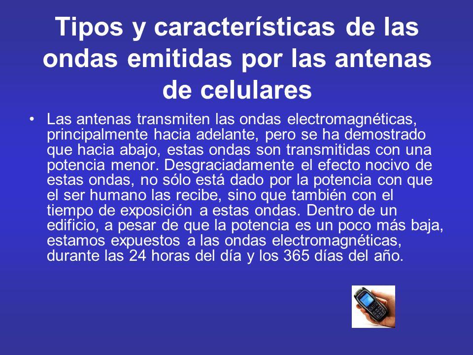 Tipos y características de las ondas emitidas por las antenas de celulares