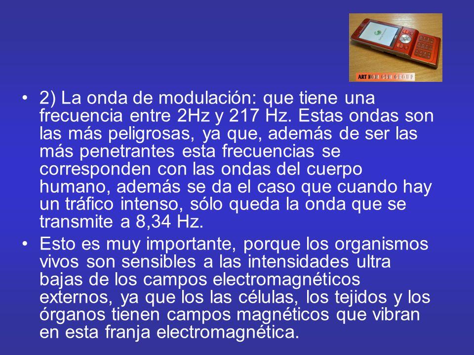 2) La onda de modulación: que tiene una frecuencia entre 2Hz y 217 Hz