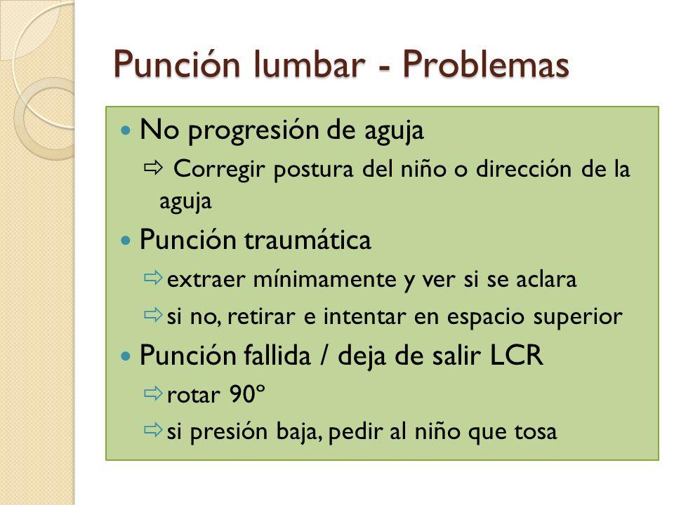 Punción lumbar - Problemas