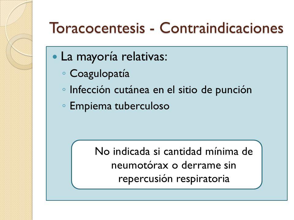 Toracocentesis - Contraindicaciones
