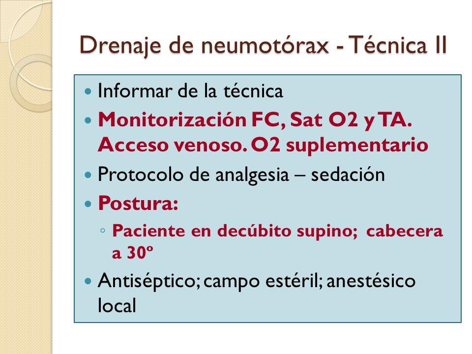 Drenaje de neumotórax - Técnica II