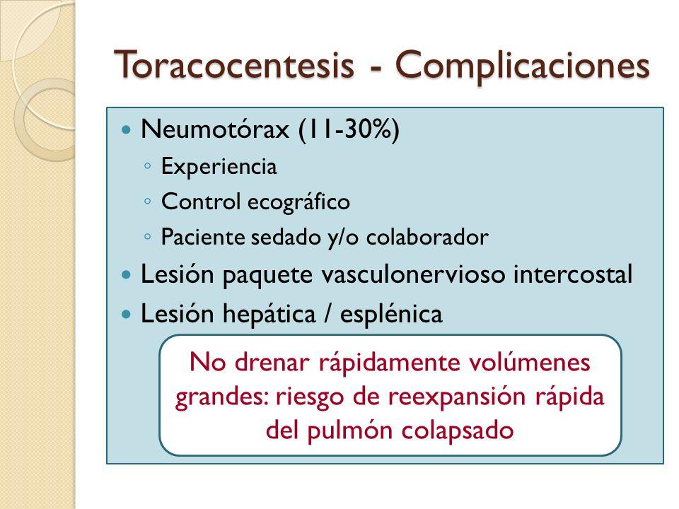 Toracocentesis - Complicaciones