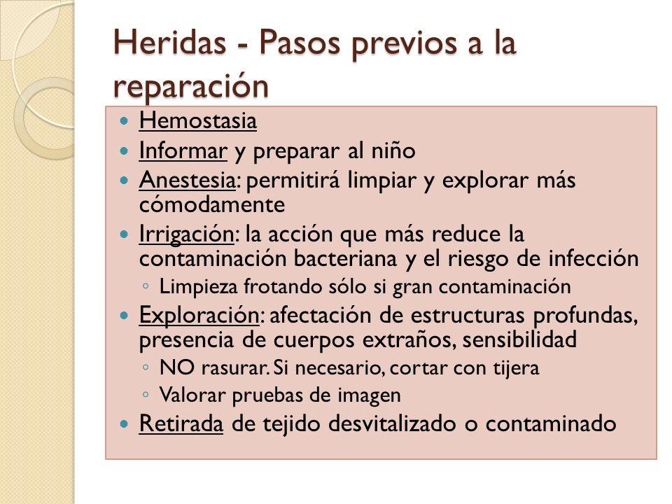 Heridas - Pasos previos a la reparación