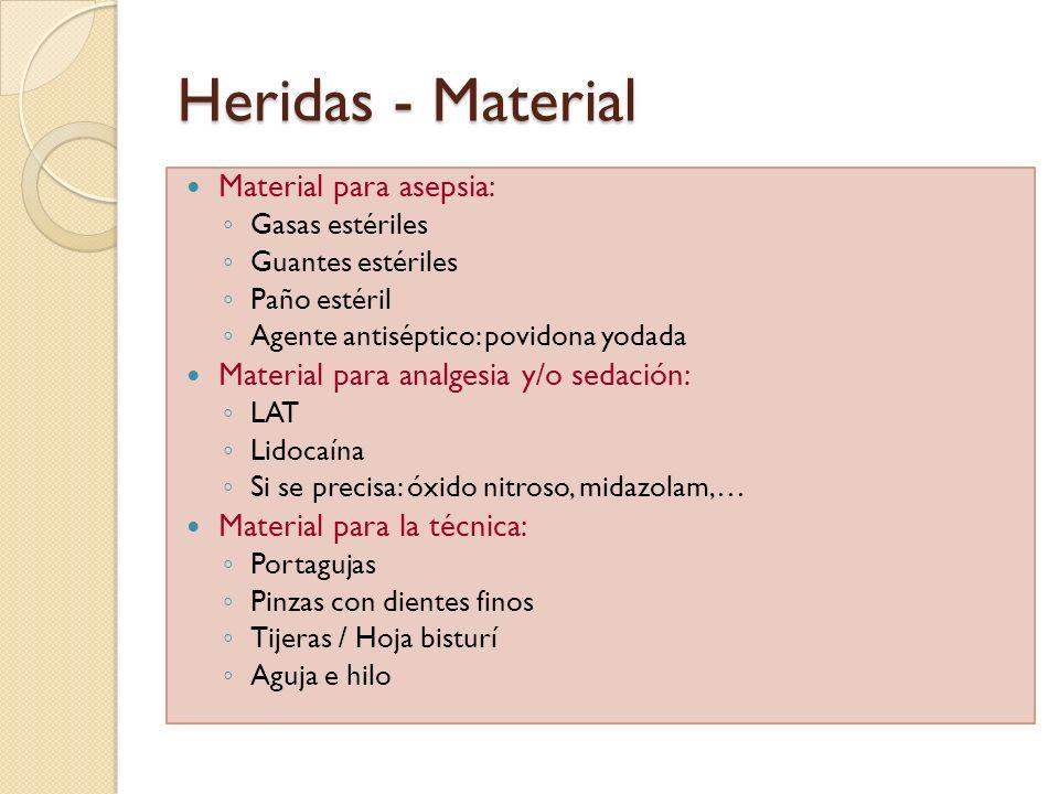 Heridas - Material Material para asepsia:
