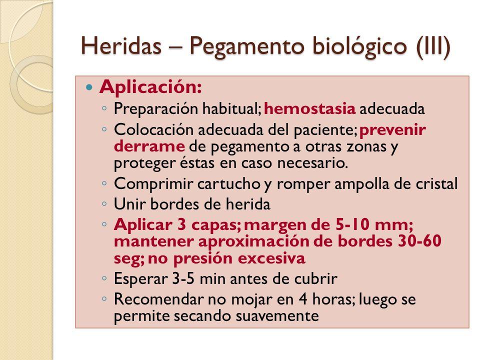 Heridas – Pegamento biológico (III)