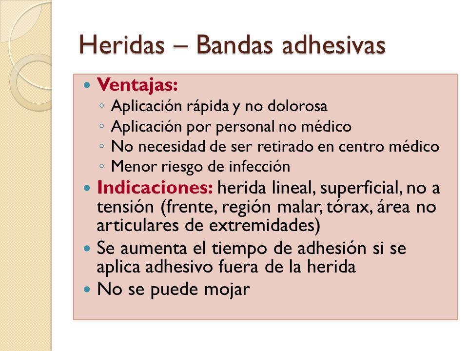 Heridas – Bandas adhesivas