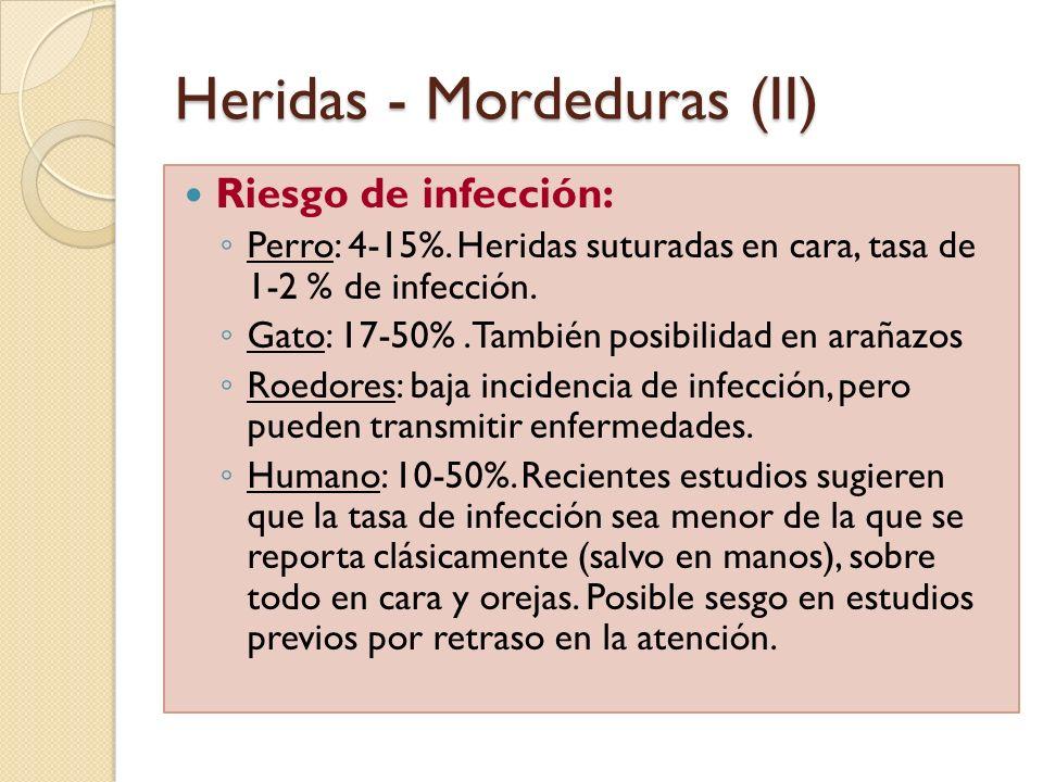 Heridas - Mordeduras (II)