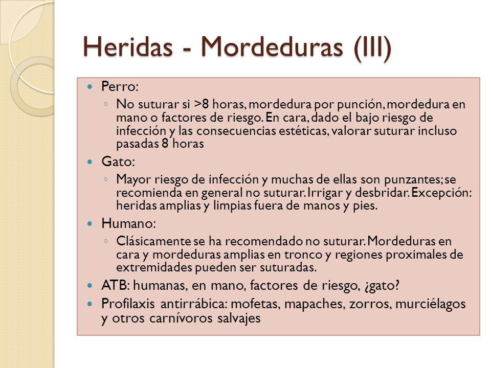 Heridas - Mordeduras (III)