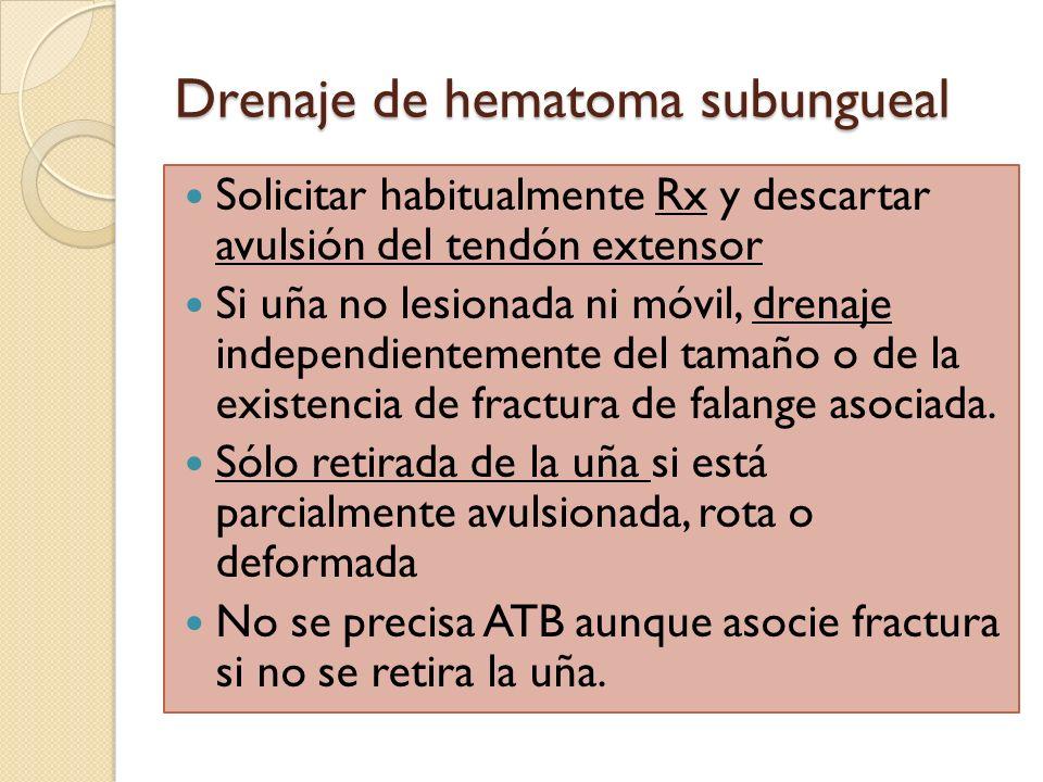 Drenaje de hematoma subungueal