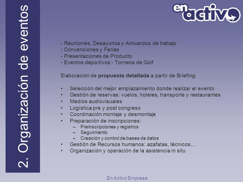 2. Organización de eventos