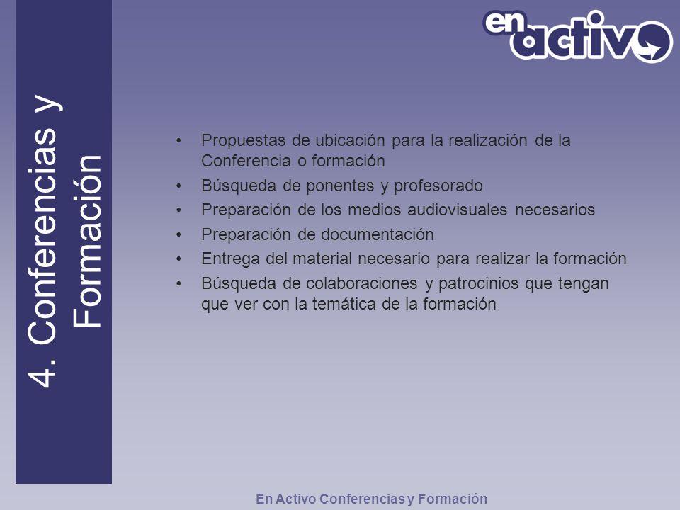 4. Conferencias y Formación