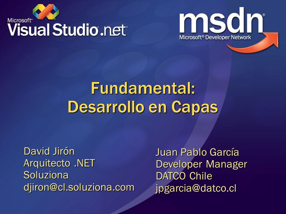 Fundamental: Desarrollo en Capas