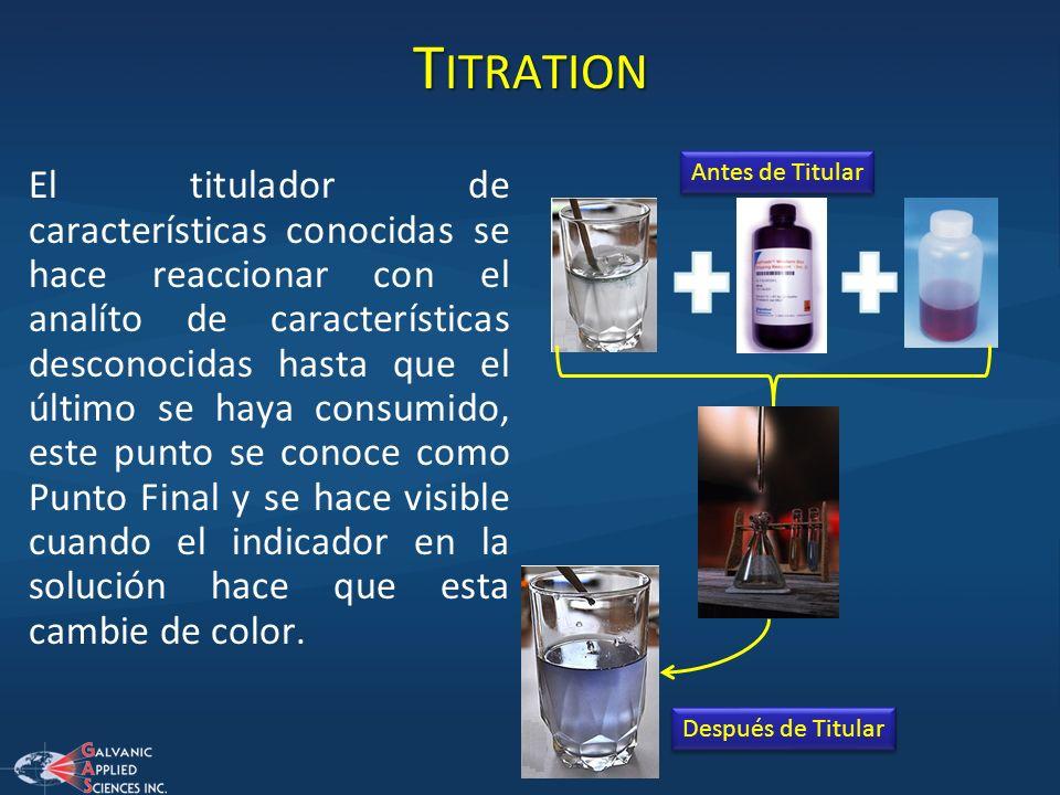 TitrationAntes de Titular.