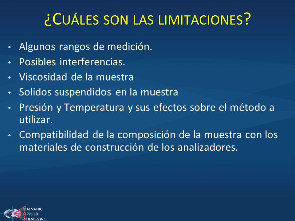 ¿Cuáles son las limitaciones
