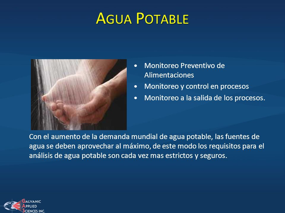 Agua Potable Monitoreo Preventivo de Alimentaciones