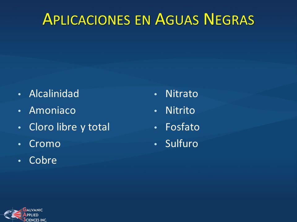 Aplicaciones en Aguas Negras