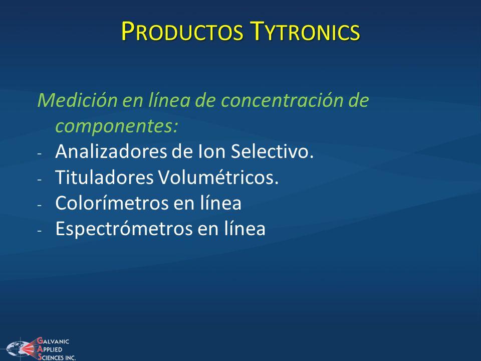 Productos Tytronics Medición en línea de concentración de componentes: