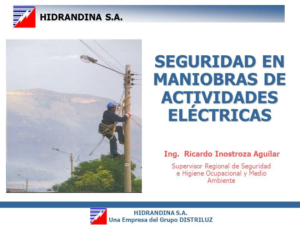 SEGURIDAD EN MANIOBRAS DE ACTIVIDADES ELÉCTRICAS