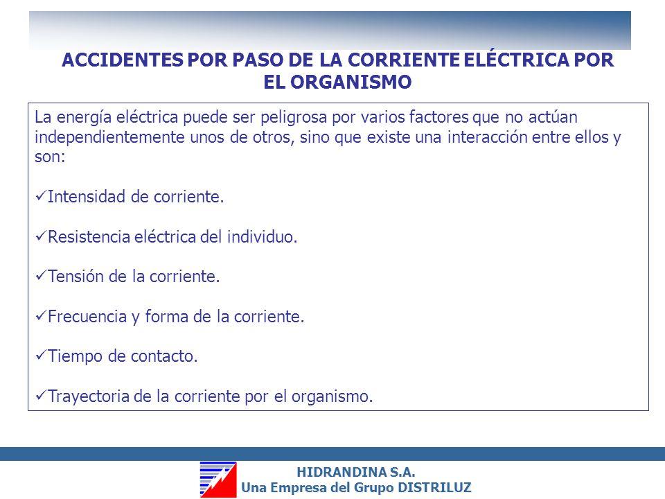 ACCIDENTES POR PASO DE LA CORRIENTE ELÉCTRICA POR EL ORGANISMO
