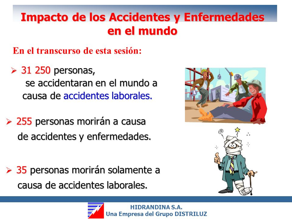 Impacto de los Accidentes y Enfermedades en el mundo