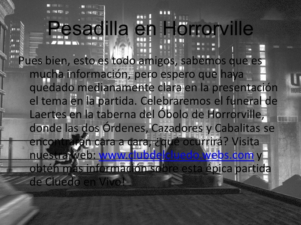 Pesadilla en Horrorville
