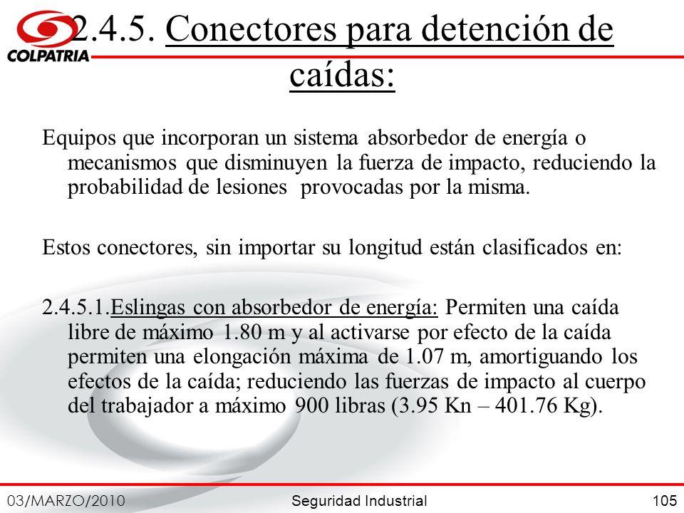 2.4.5. Conectores para detención de caídas: