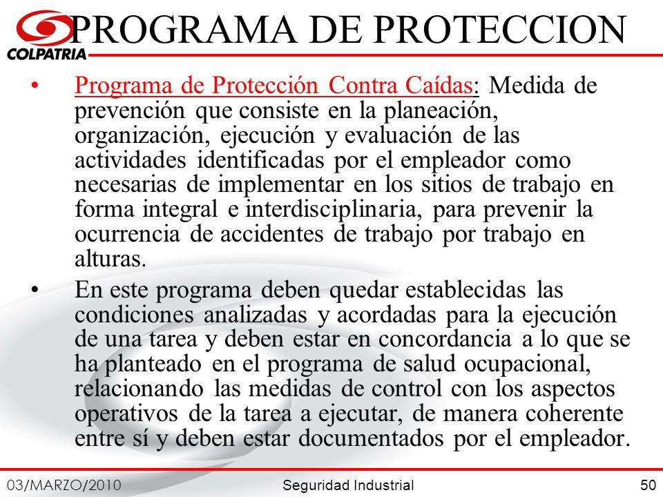 PROGRAMA DE PROTECCION