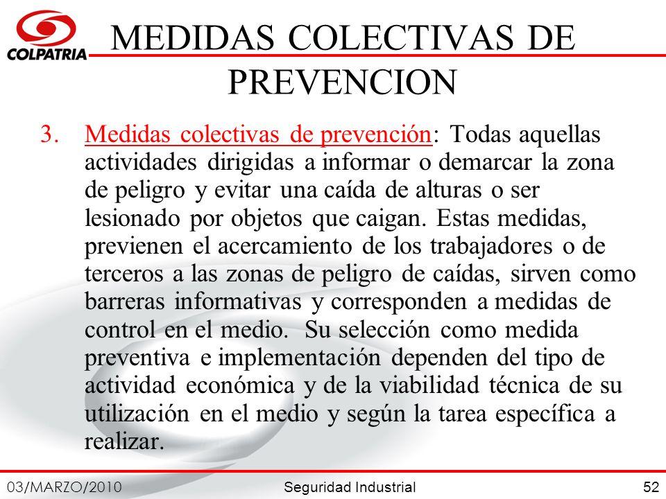 MEDIDAS COLECTIVAS DE PREVENCION
