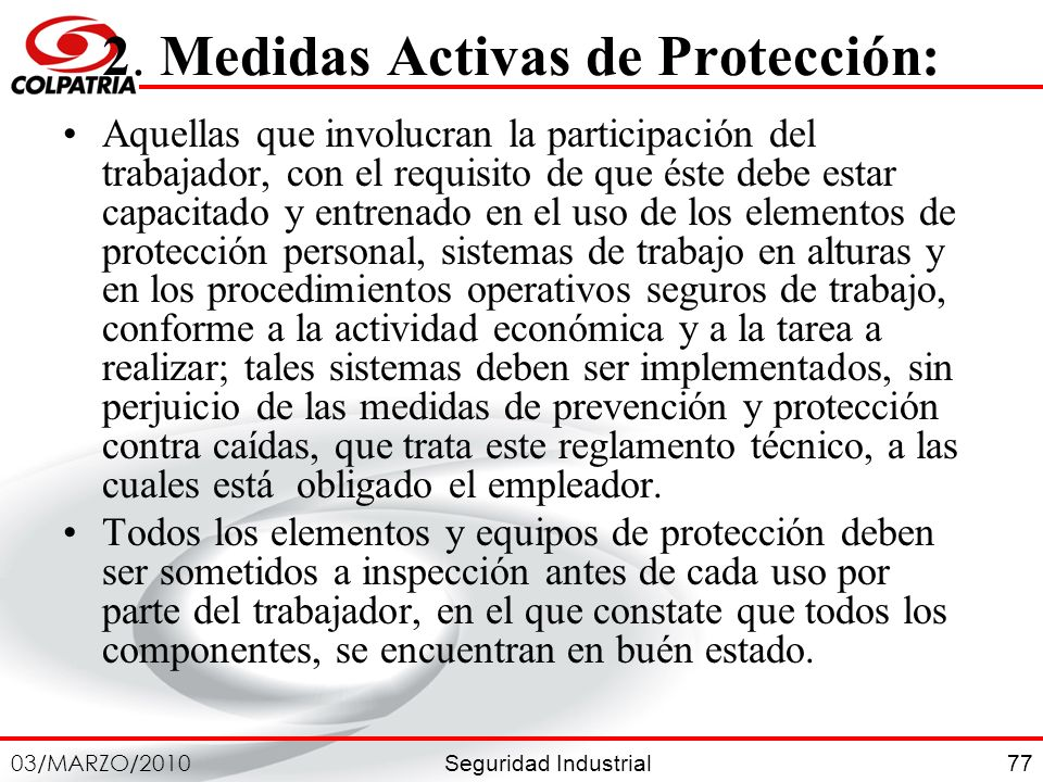 2. Medidas Activas de Protección: