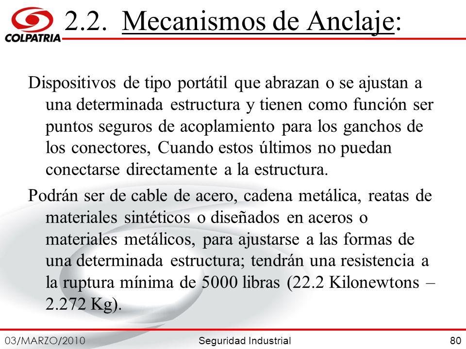 2.2. Mecanismos de Anclaje: