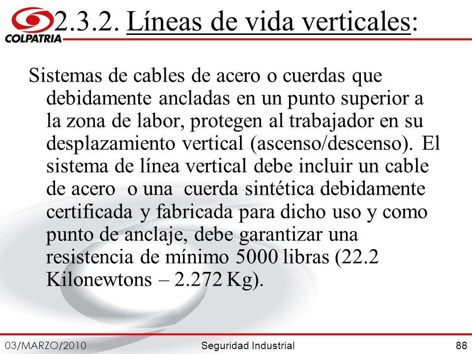 2.3.2. Líneas de vida verticales:
