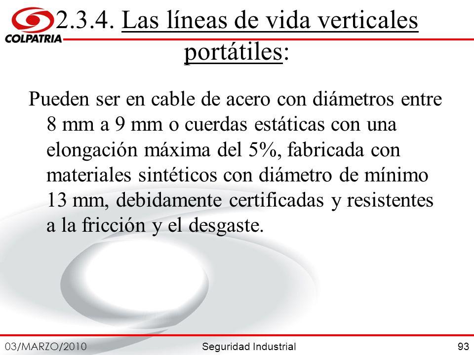 2.3.4. Las líneas de vida verticales portátiles: