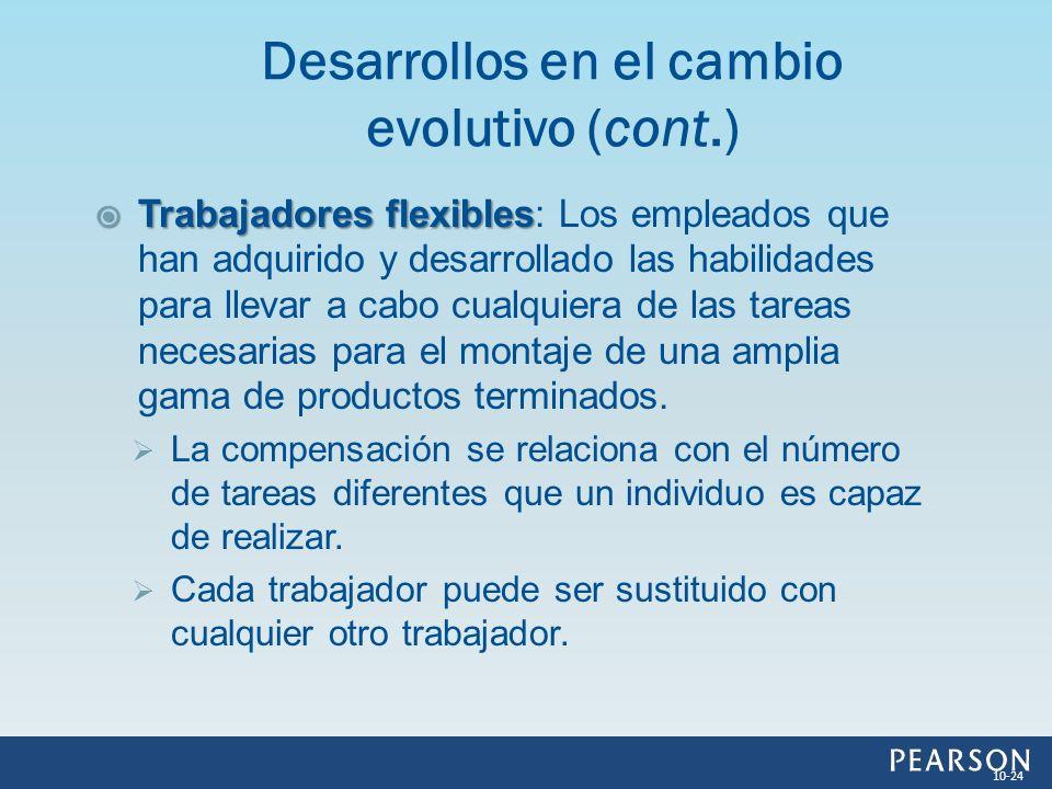 Desarrollos en el cambio evolutivo (cont.)