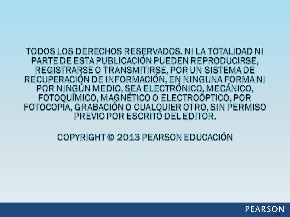 Copyright © 2013 Pearson Educación