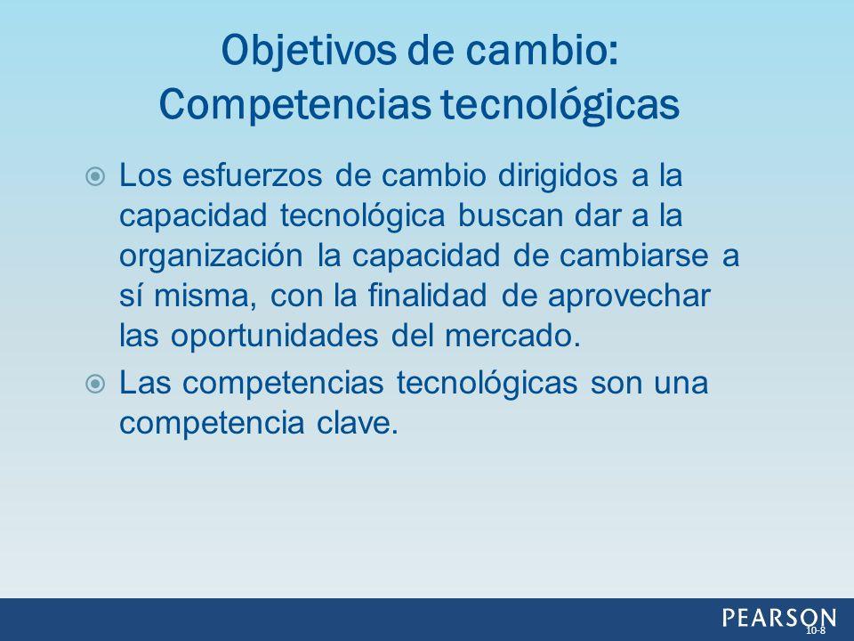 Objetivos de cambio: Competencias tecnológicas