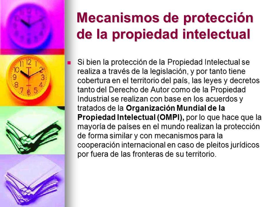 Mecanismos de protección de la propiedad intelectual