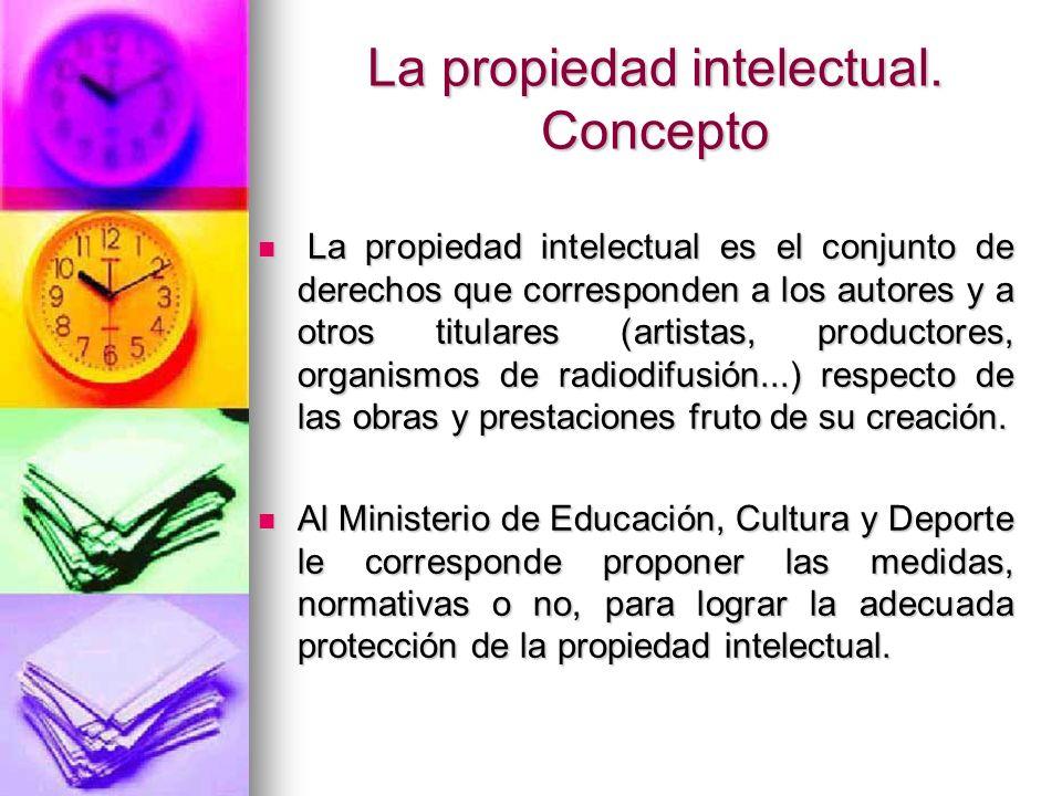La propiedad intelectual. Concepto