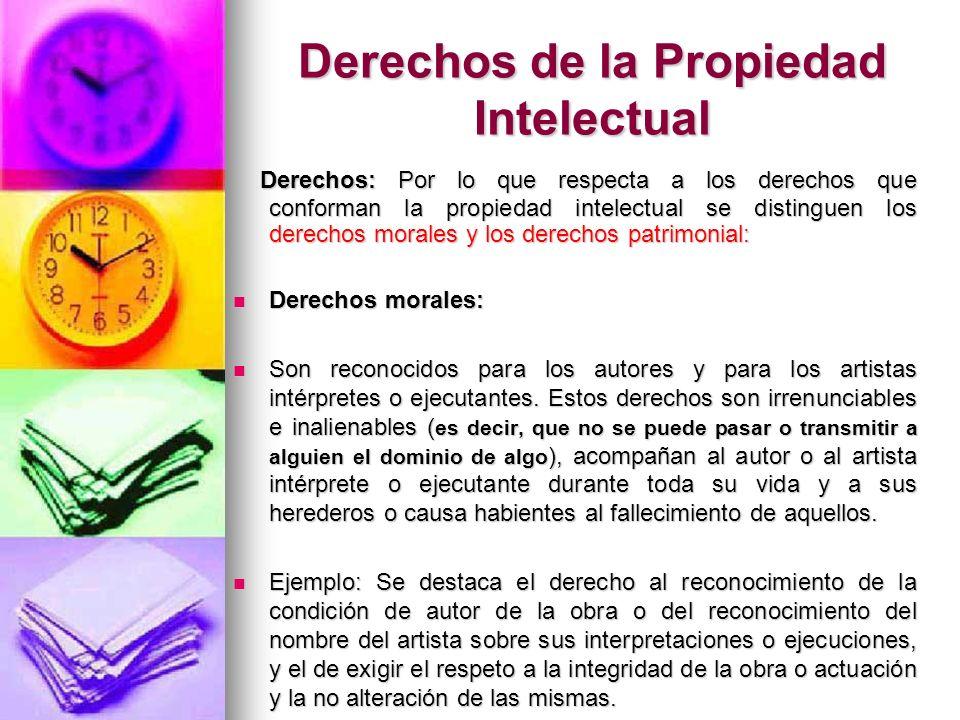 Derechos de la Propiedad Intelectual